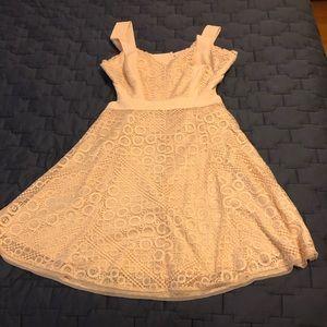 BCBG Women's Cream Dress - Split Top - Size 10